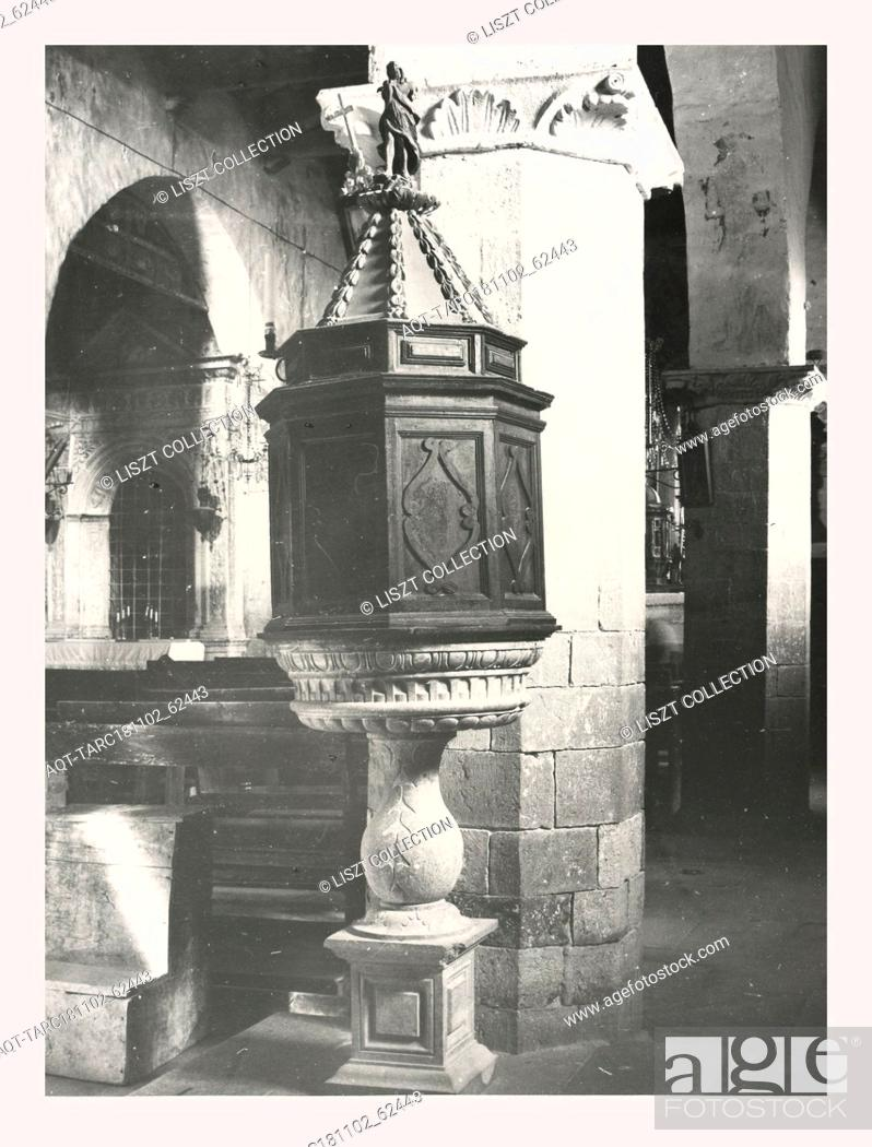 Stock Photo: Marches Macerata Mevale Pieve, this is my Italy, the italian country of visual history, Parish church dating from the 13th century with interior decoration.