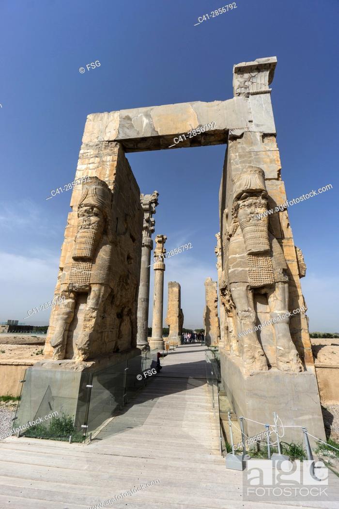 Stock Photo: Ruins of Persépolis. Fars Province. Iran.