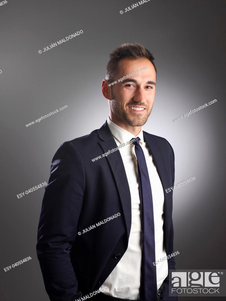 Stock Photo: Businessman with positive and friendly expression.