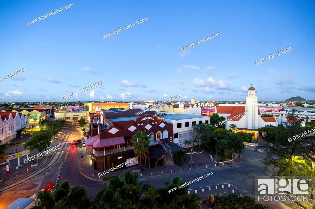 Stock Photo: Main Street, Oranjestad, Aruba, Lesser Antilles, Central America.