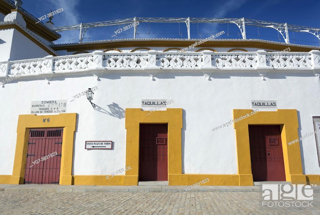 Stock Photo: Real Maestranza, Sevilla, Andalucia, Spain.