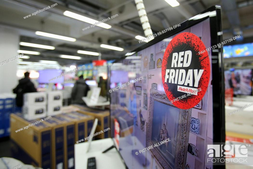 23 November 2018 Hamburg Red Friday Is Written On A Sticker In A Media Markt Store In Hamburg Stock Photo Picture And Rights Managed Image Pic Pah 181123 99 937106 Dpai Agefotostock