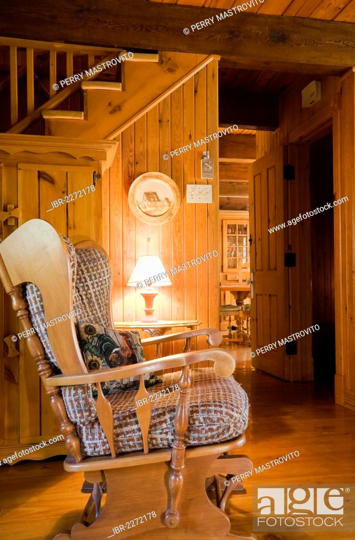 Tremendous Rocking Chair In The Living Room Of A Canadiana Cottage Onthecornerstone Fun Painted Chair Ideas Images Onthecornerstoneorg