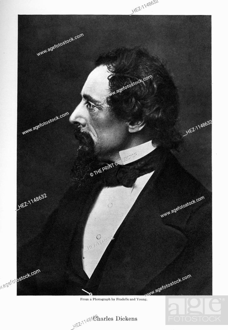 Charles Dickens English Novelist C1860s Portrait Of Dickens 1812