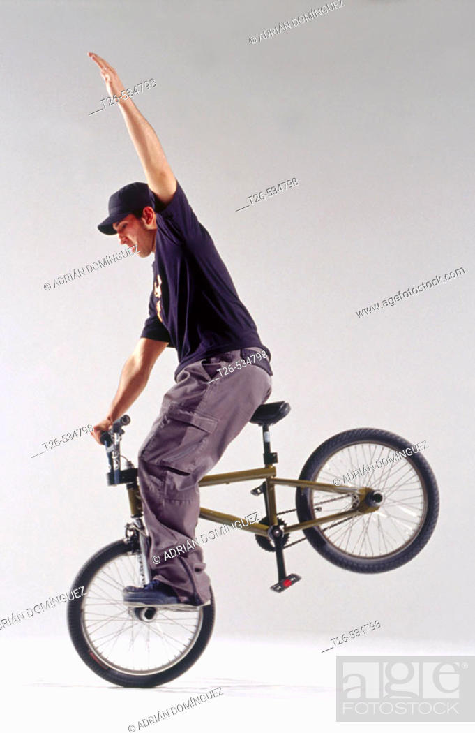 Stock Photo: Fernando Bayona, Freestyle BMX Spanish champion.