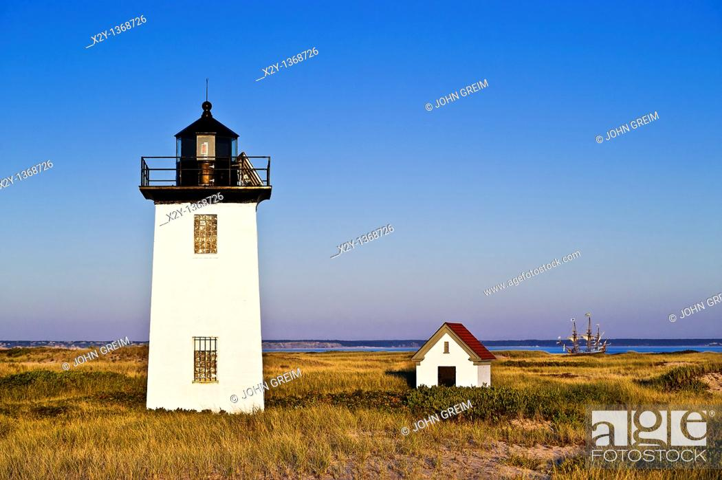 Stock Photo: Long Point Lighthouse, Provincetown, Cape Cod, MA, Massachusetts, USA.