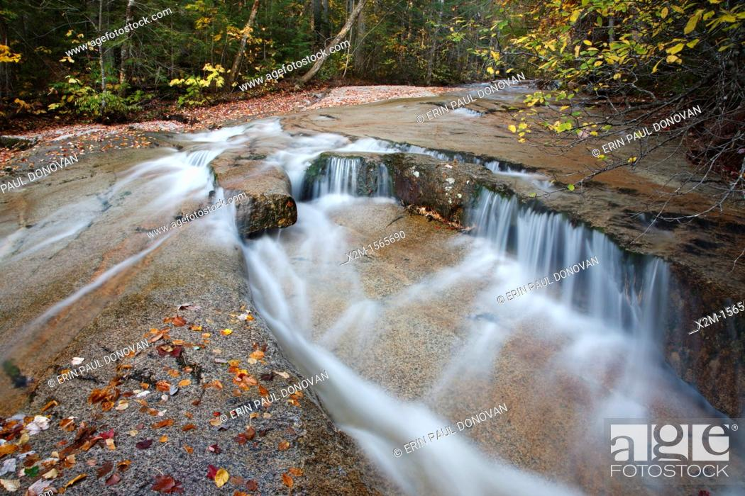 Stock Photo: Ledge Brook during the autumn months in the White Mountains, New Hampshire USA  This brook is located off of the Kancamagus Scenic Byway.