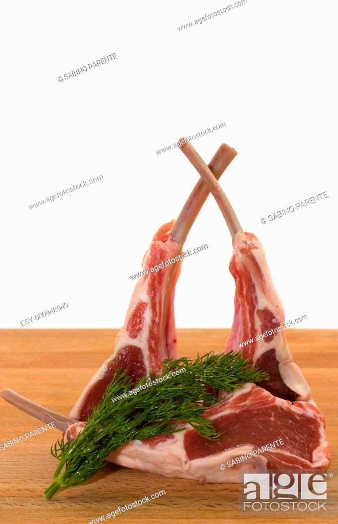 Stock Photo: Racks of lamb.