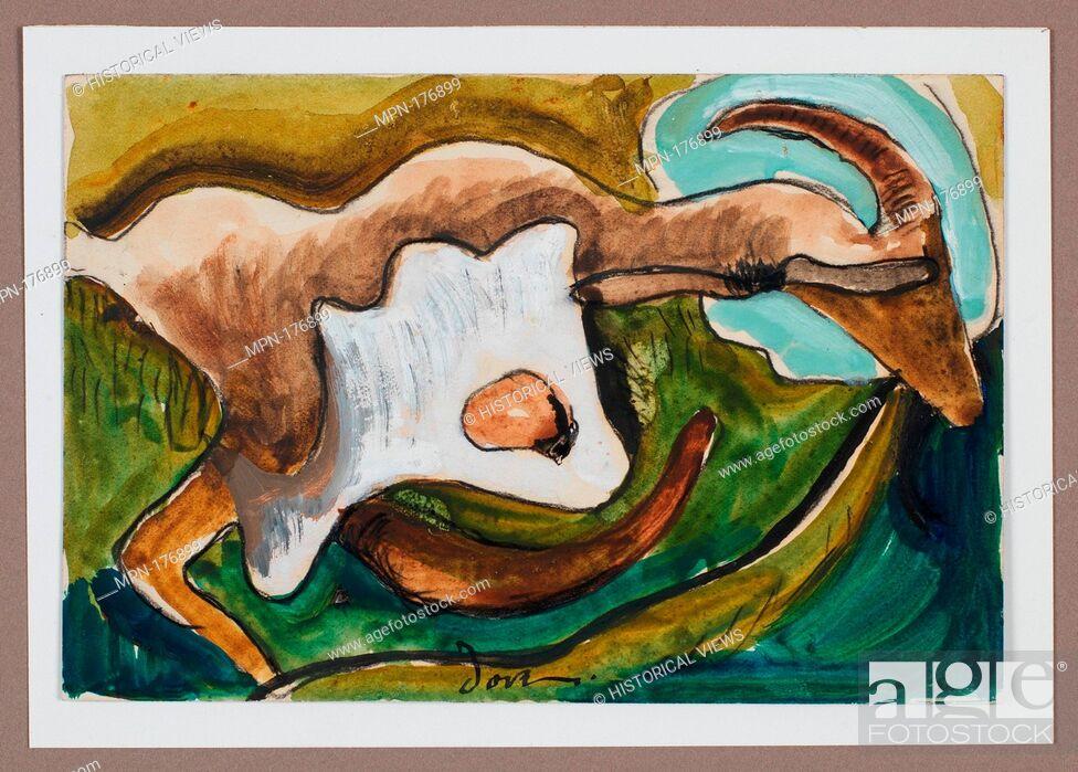 Stock Photo: Study for Goat. Artist: Arthur Dove (American, Canandaigua, New York 1880-1946 Huntington, New York); Date: ca. 1934; Medium: Watercolor, gouache.