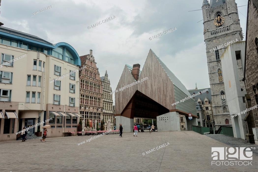 Stock Photo: Ghent is a city and a municipality located in the Flemish region of Belgium. It is the capital and largest city of the East Flanders province.