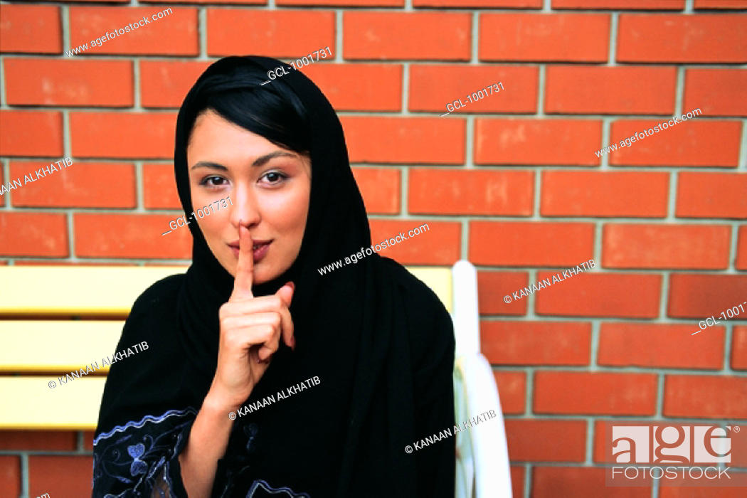 Stock Photo: Woman with a secret.