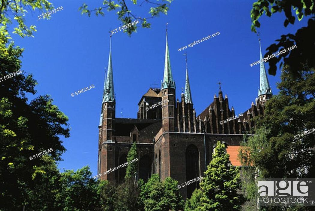 Stock Photo: Poland, Gdansk, Notre Dame Church.