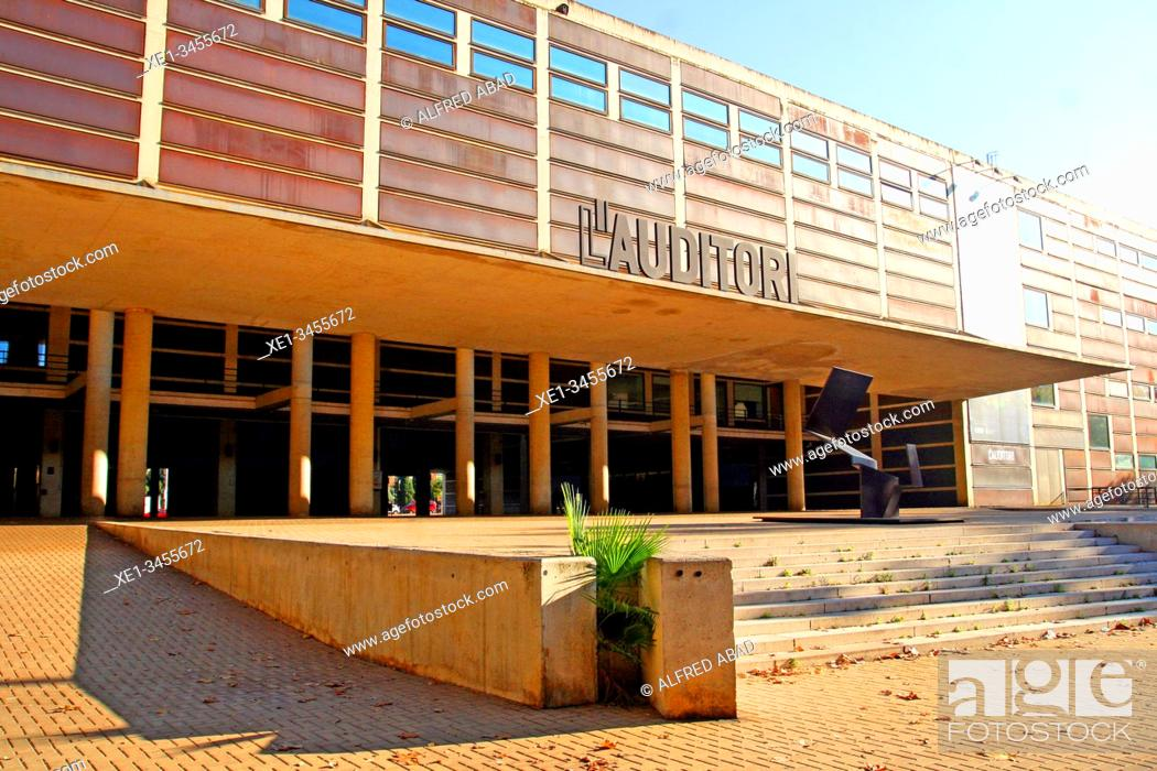 Stock Photo: l'Auditori building, concert hall, 1999, architect Rafael Moneo, Barcelona, ??Barcelona, ??Catalonia, Spain.