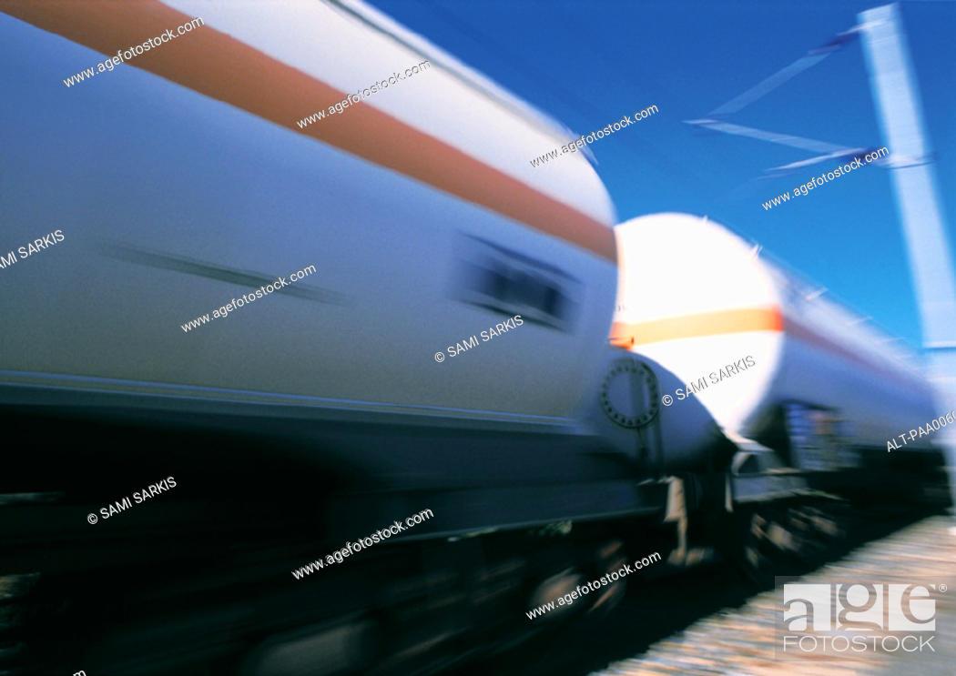 Stock Photo: Train, blurred.