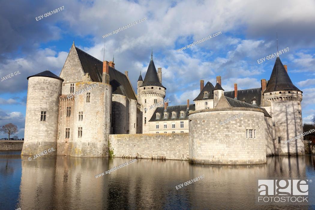 Stock Photo: Castle of Sully-Sur-Loire, Loiret, France.