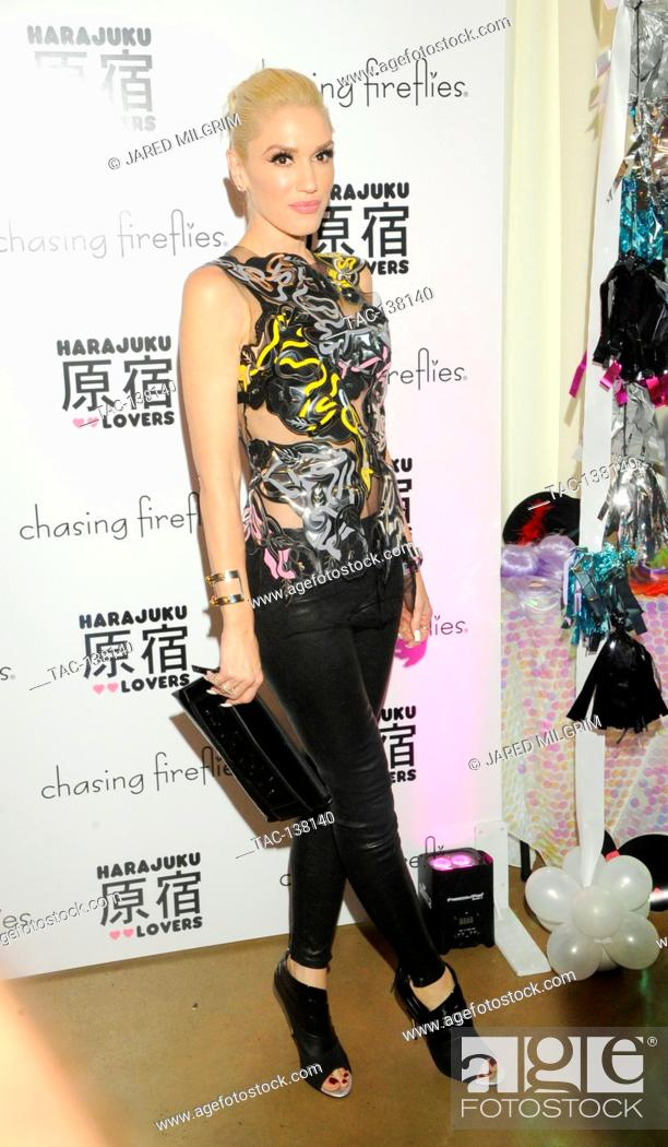 Stock Photo: Singer Gwen Stefani attends the Gwen Stefani x Chasing Fireflies event on September 24th, 2015 in Los Angeles, California.