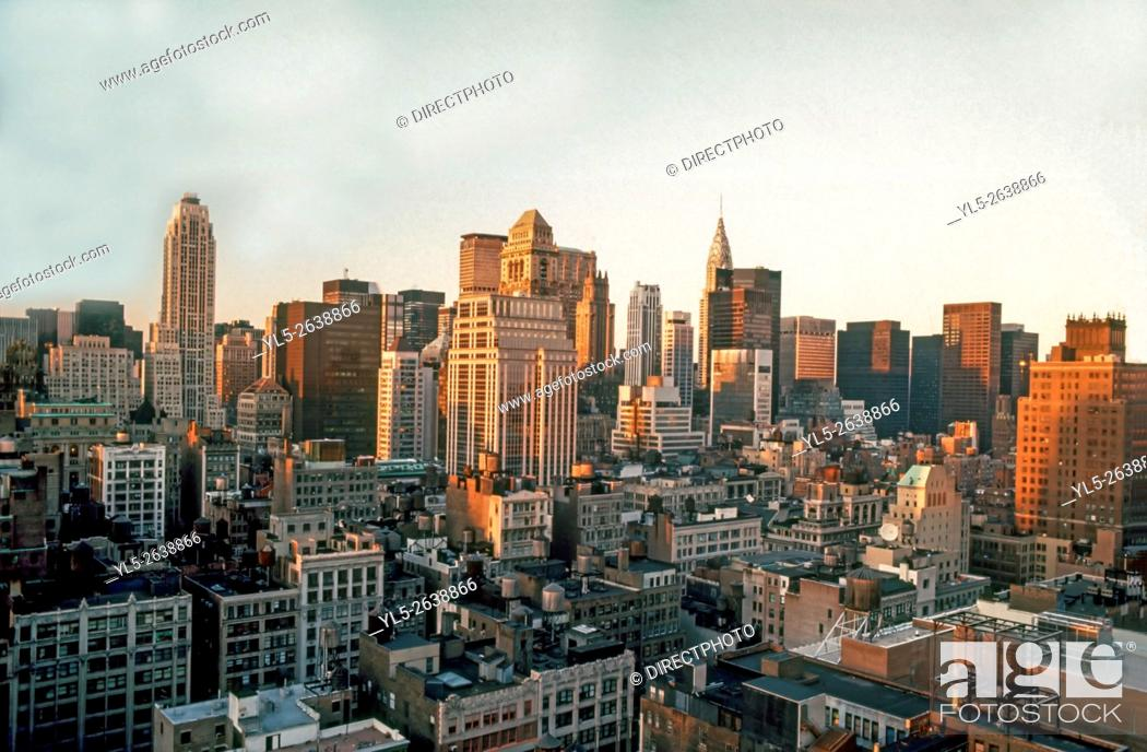 Stock Photo: New York City, NY, U.S.A., Urban Skyline, Midtown Manhattan.