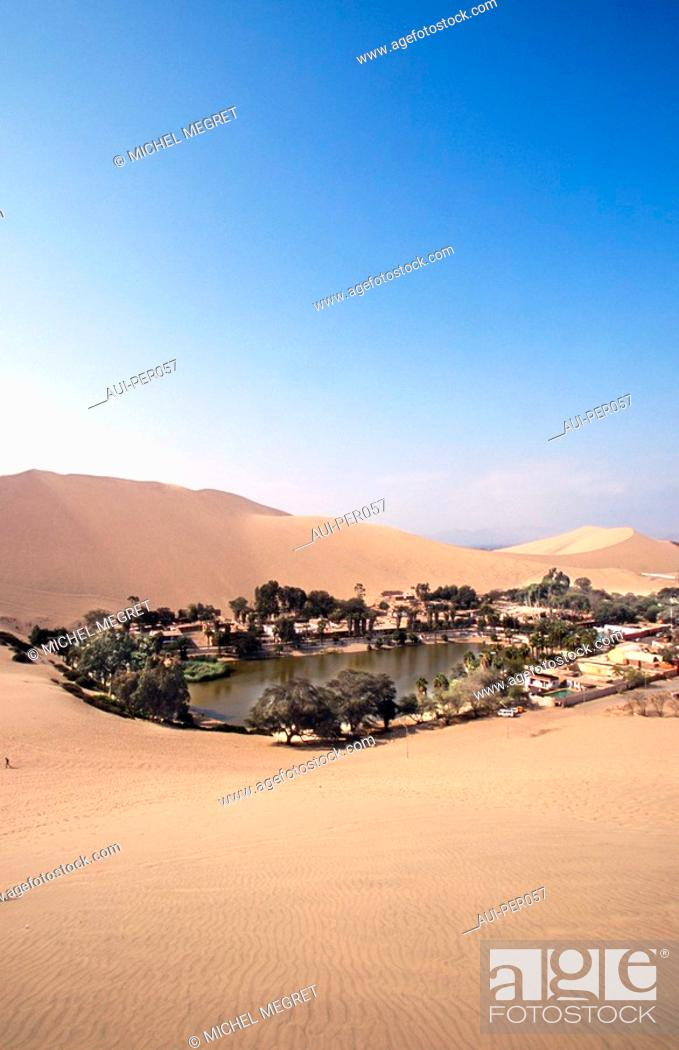 Stock Photo: Peru - Oasis of Huacachina.