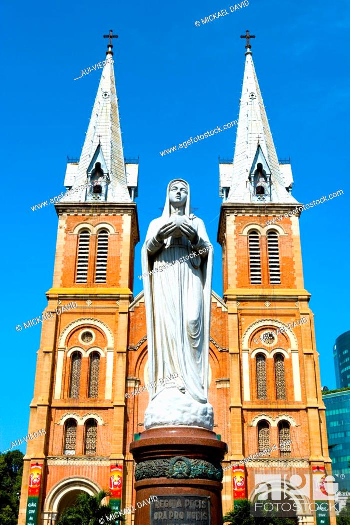 Stock Photo: Vietnam - Ho Chi Minh-City Sa'gon - Notre-Dame Cathdral.