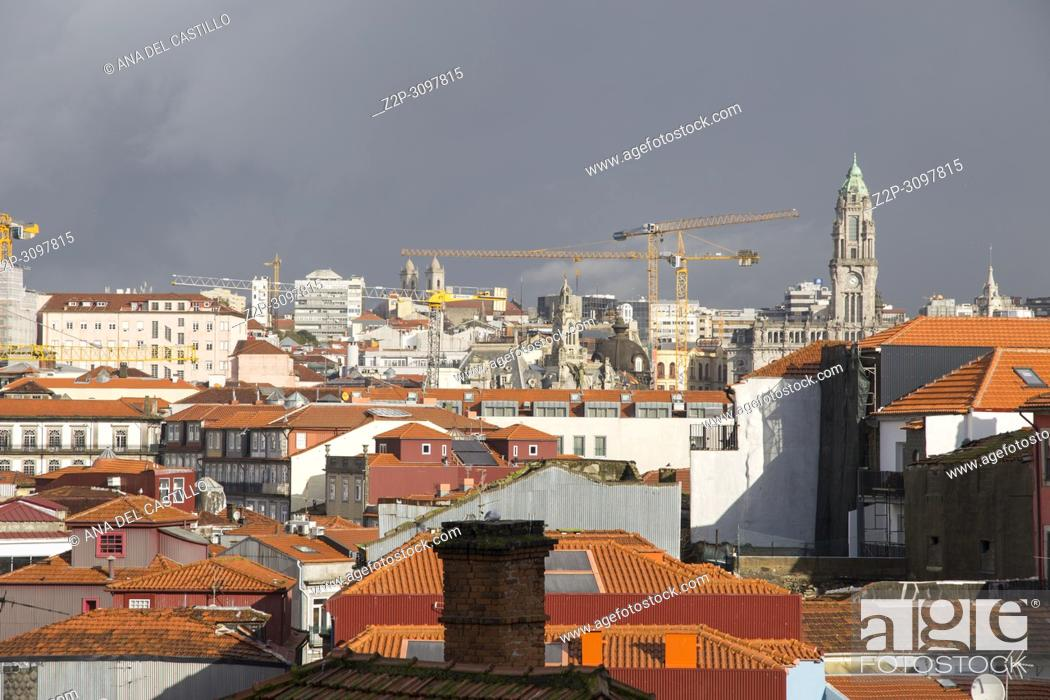 Stock Photo: Cityscape in Porto Portugal on January 13, 2018.
