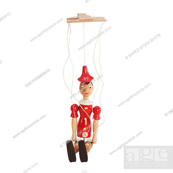 Stock Photo: wooden puppet.