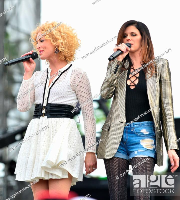 Stock Photo: 1st annual Kiss 99.9 Chilli Cookoff at CB Smith Park Featuring: Kimberly Roads Schlapman, Karen Fairchil of Little Big Town Where: PEMBROKE PINES, Florida.
