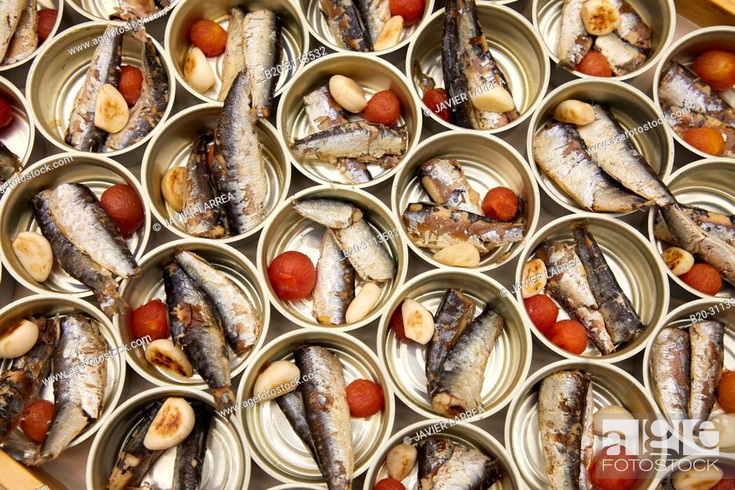Stock Photo: Sardines, Catering in congress, Kursaal Congress Palace, Donostia, San Sebastian, Gipuzkoa, Basque Country, Spain, Europe.