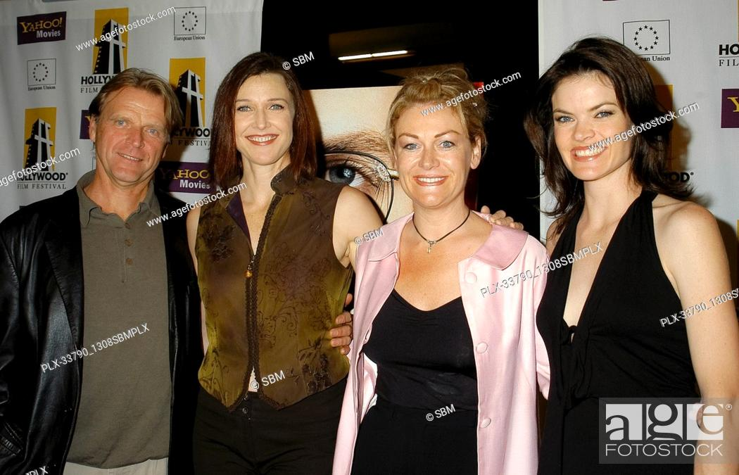 """Stock Photo: """"""""""""Exposed"""""""" Cast - David Rasche, Brenda Strong, Misti L. Barnes & Missi Pyle at the Hollywood Film Festival - Closing Night """"""""Shattered Glass"""""""" Los Angeles."""
