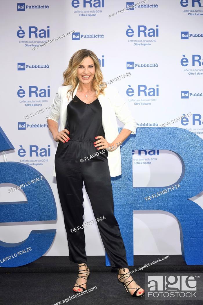 Stock Photo: Lorella Cuccarini during the Rai programming launch in Milan, ITALY-09-07-2019.