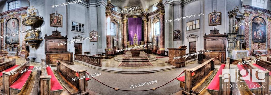 Stock Photo: baroque parish church in Stockerau, Weinviertel Region, Lower Austria, Austria.
