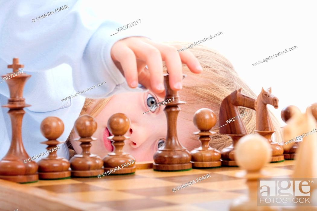 Stock Photo: activity, background, beautiful, board, boy, Caucasian, challenge, chess, chessboard, child, childhood, competition, competitive, concentration, cute, education.