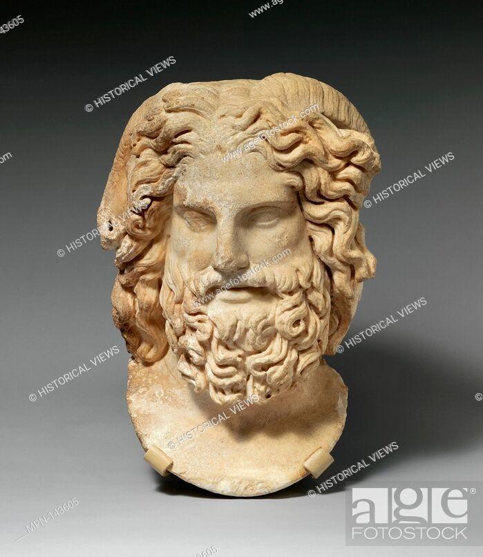 Marble head of Zeus Ammon  Period: Imperial