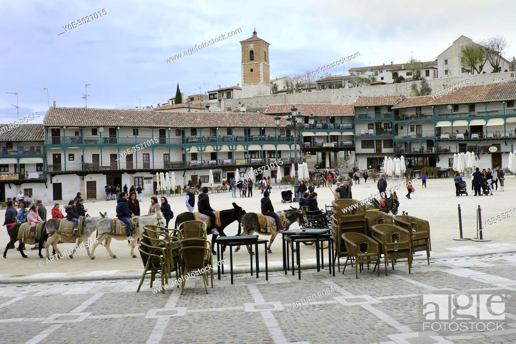 Stock Photo: Plaza Mayor of Chinchón, medieval town in the Community of Madrid.