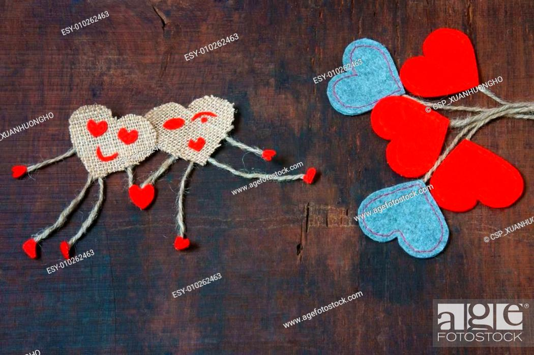 Stock Photo: Valentine day, symbol of love, red heart.