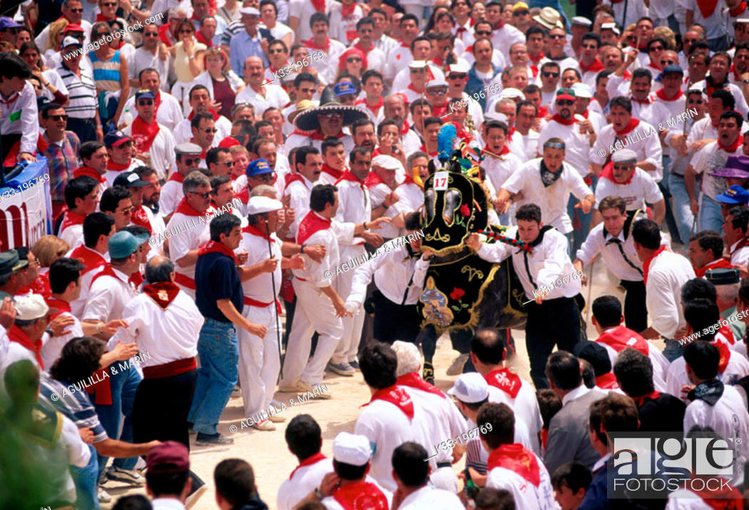 Stock Photo: 'Los caballos del vino', local festival. Caravaca de la Cruz. Murcia. Spain.