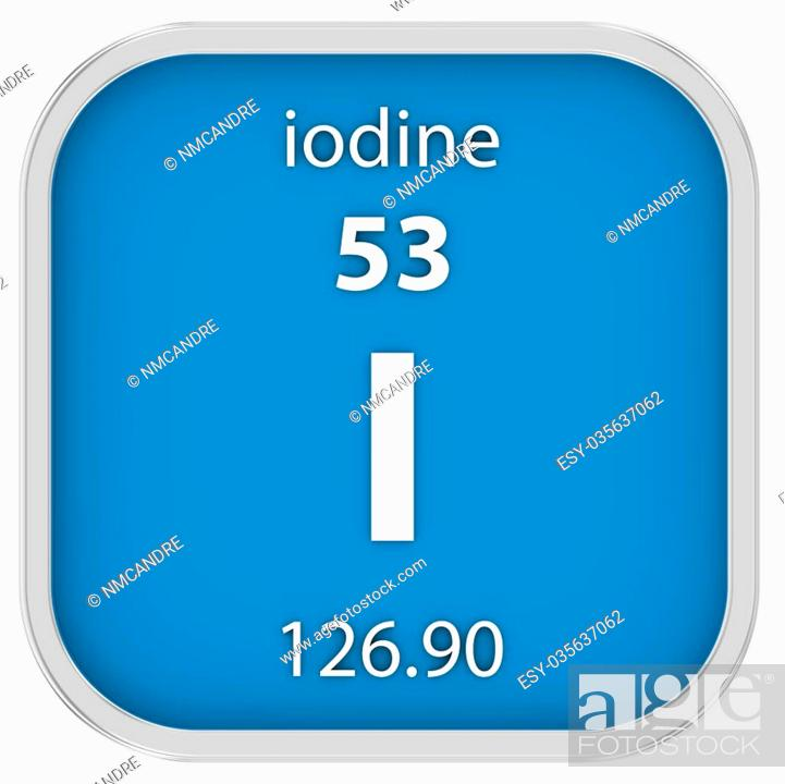 Iodine Material On The Periodic Table Part Of A Series Stock Photo