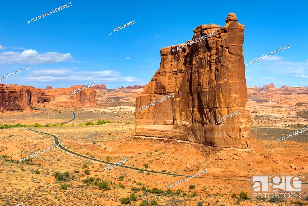 Stock Photo: Courthouse Buttes Arches National Park Utah USA.