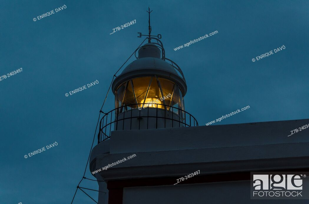 Stock Photo: View of the Albir lighthouse in Alicante north, Spain.