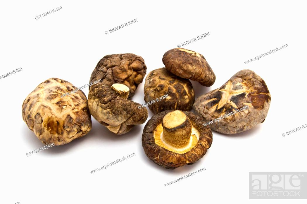 Stock Photo: Dried mushrooms.