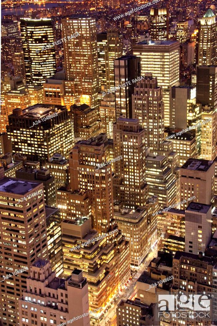 Stock Photo: Midtown Manhattan from RCA Building, New York City, USA.