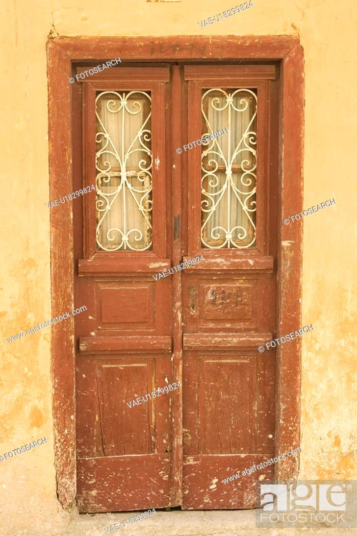 Stock Photo: Brown, Building Exterior, Building Structure, Closed, Close-Up.