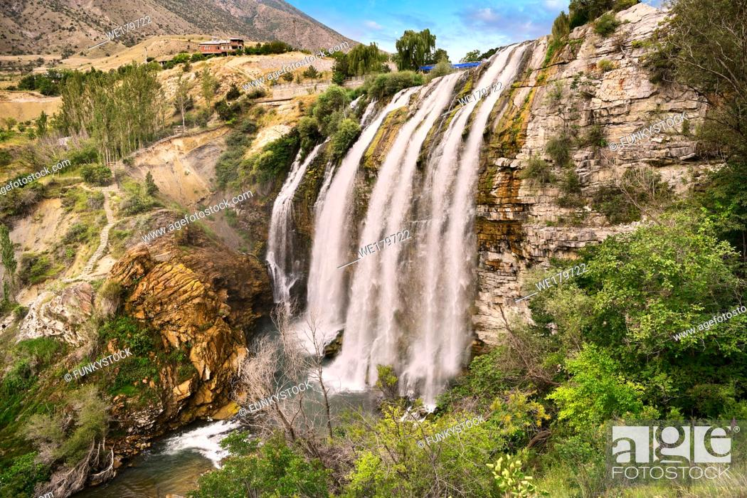 Stock Photo: Pictures & Images of the Tortum Water Falls, Coruh Valley, Erzurum in the Eastern Anatolia, Turkey.