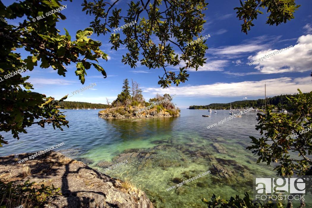 Stock Photo: Grace Islet in Ganges Harbour - Salt Spring Island, British Columbia, Canada.