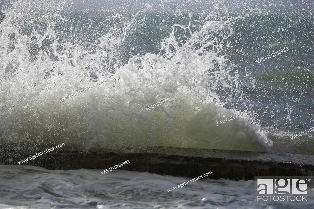 Stock Photo: Breaking, Close-Up, Coast.