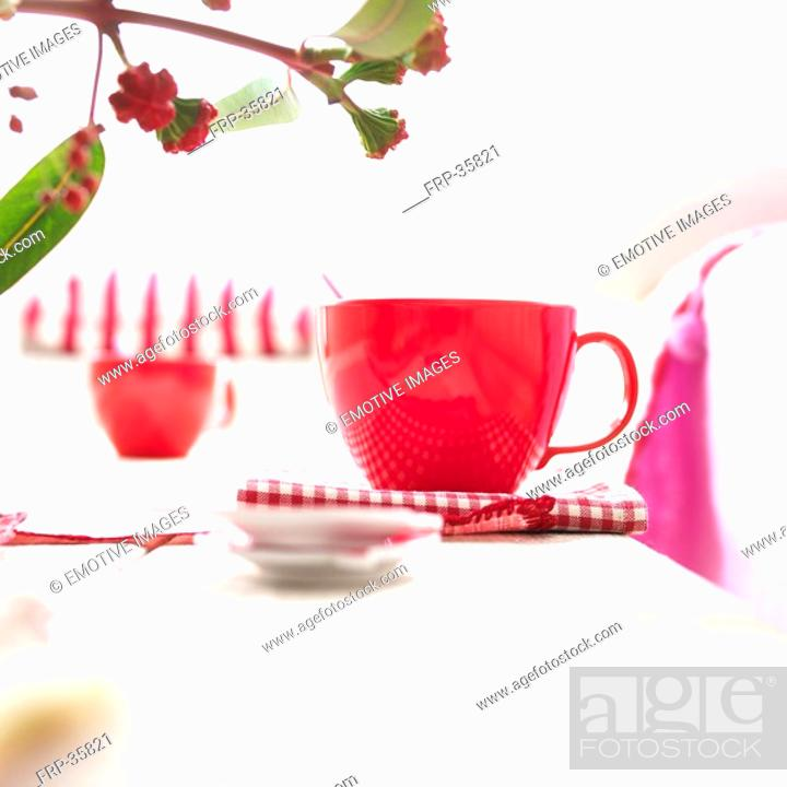 Stock Photo: decorated table.