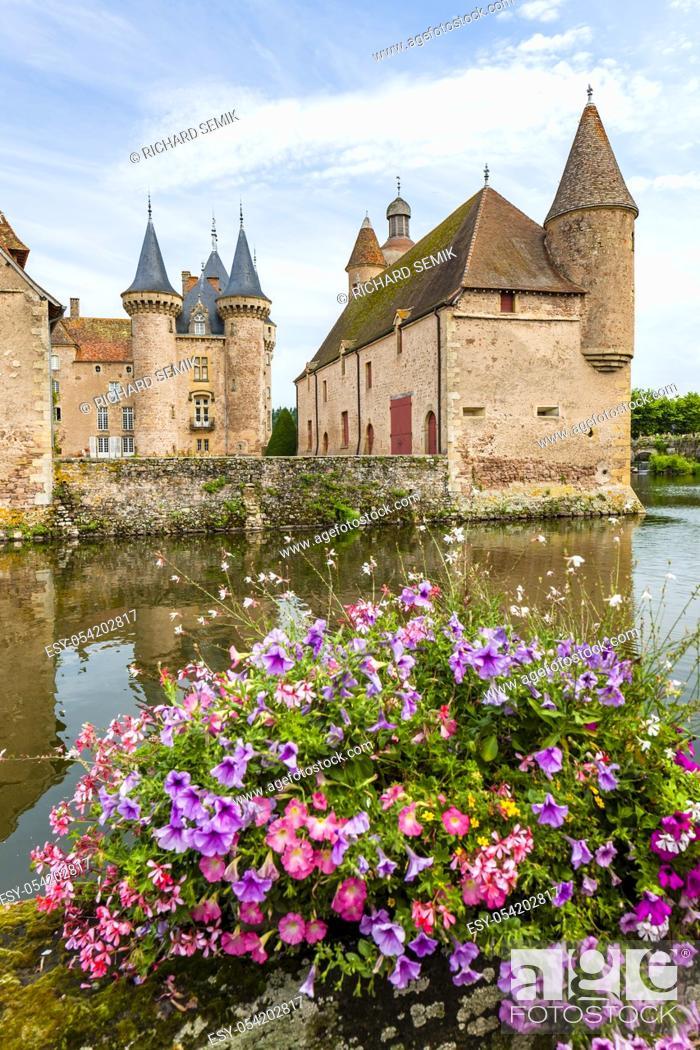 Stock Photo: Chateau de la Clayette, Burgundy, France.