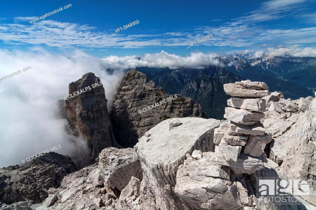 Stock Photo: Sasso di Bosconero, Dolomites, Zoldo Valley, Veneto, Belluno, Italy.