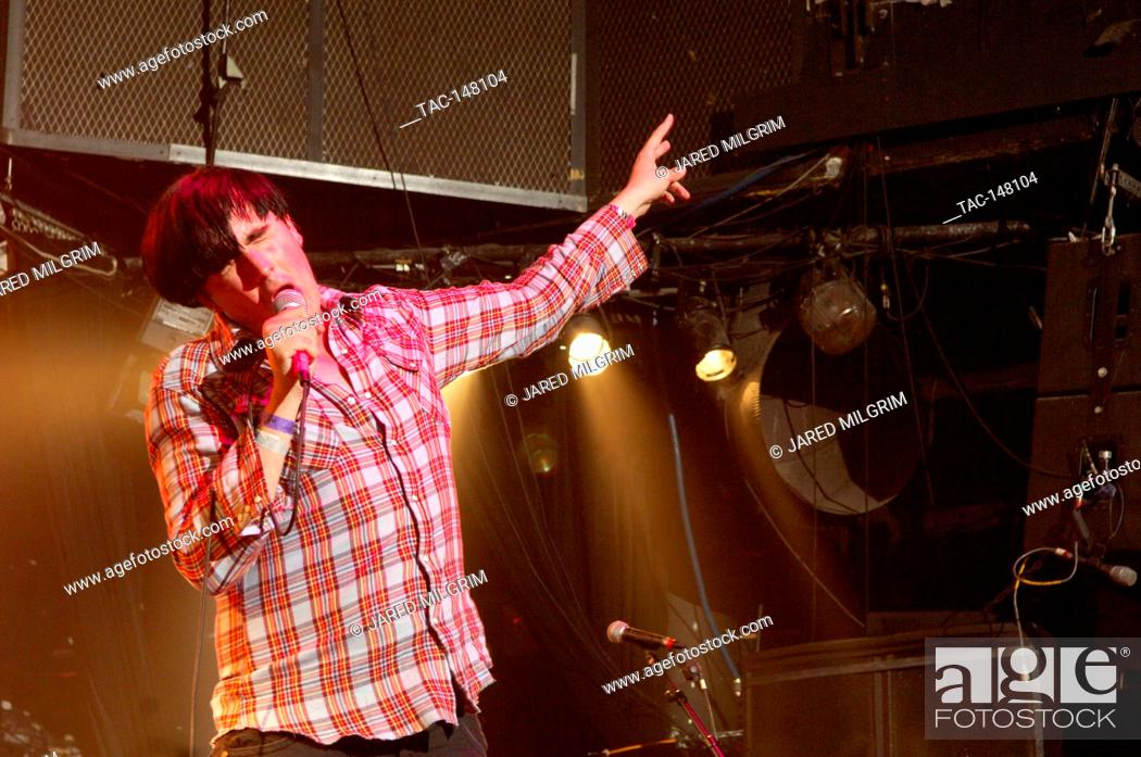 Stock Photo: Eddie Argos of Art Brut performs at the Key Club in Hollywood, CA.