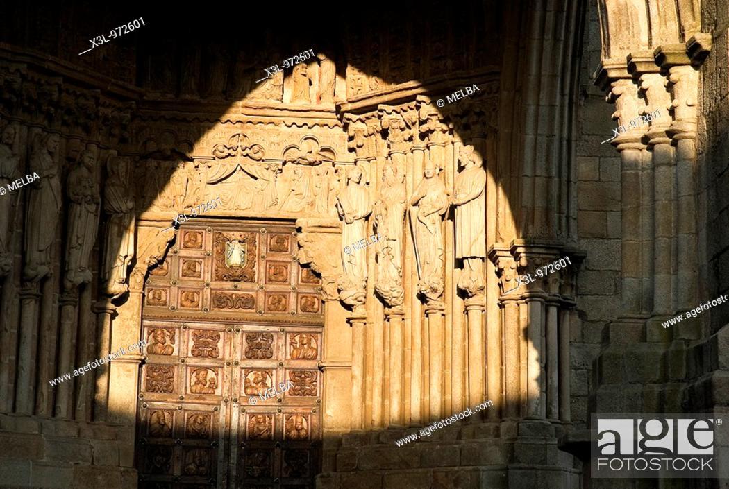 Stock Photo: Tui cathedral  Pontevedra province, Galicia, Spain.