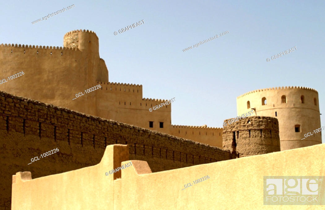 Stock Photo: Al Rustaq fort in Oman.